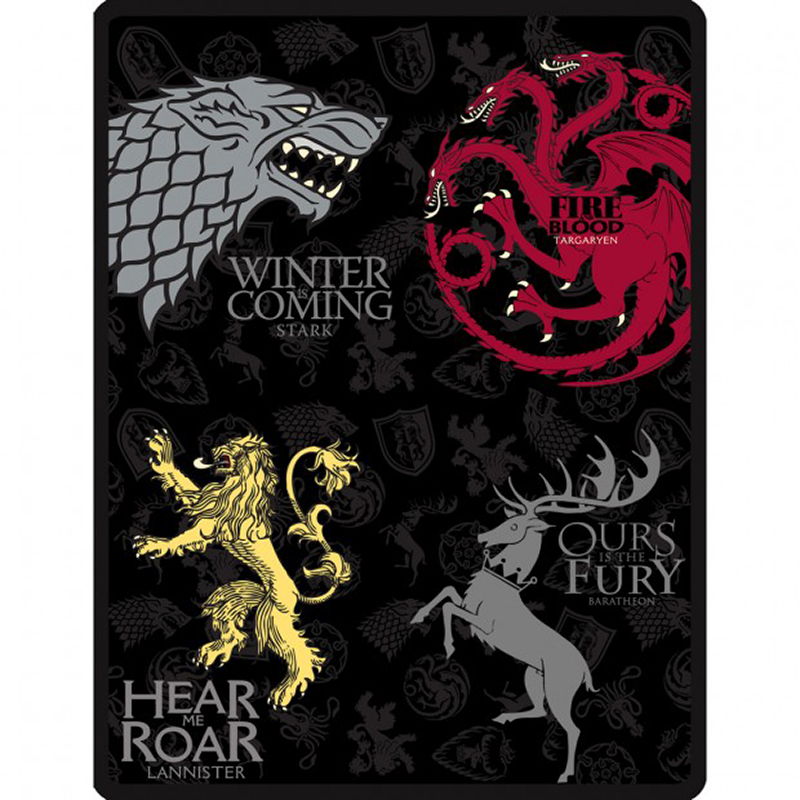 game of thrones fleece blanket.