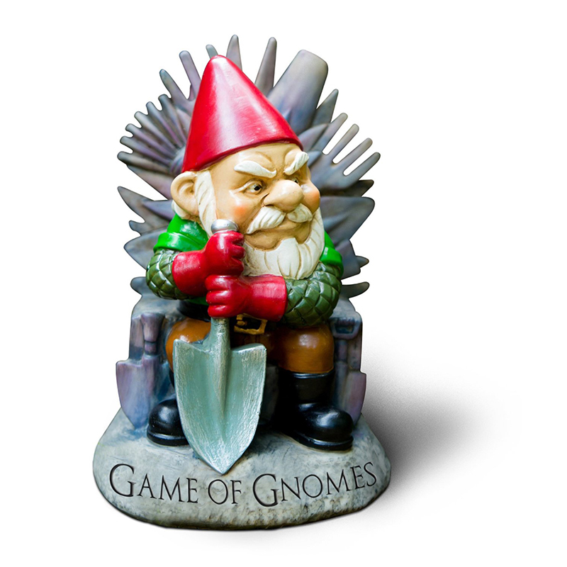 game of thrones garden gnome, game of gnomes