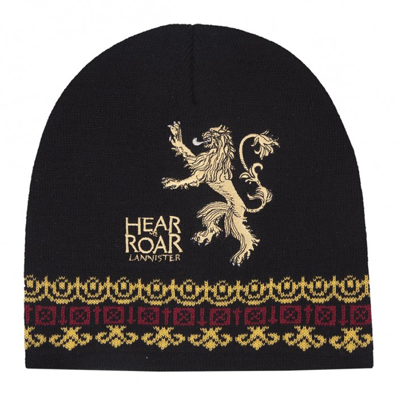 house lannister hear me roar beanie, toque.