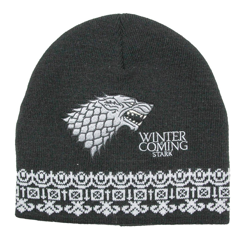 stark direwolf winter is coming beanie, toque.