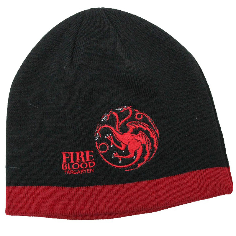targaryen dragon fire and blood beanie, game of thrones toque.