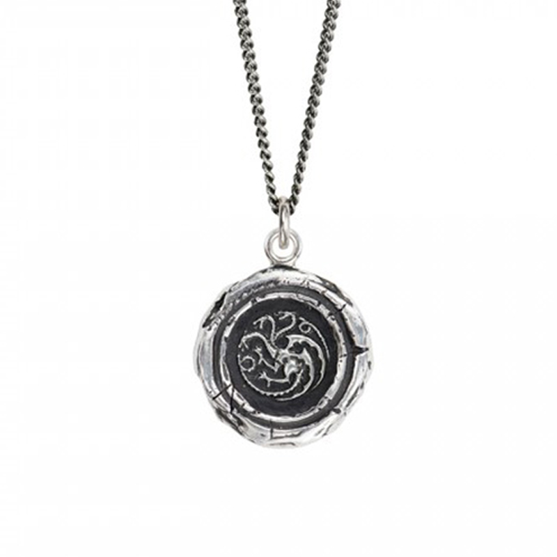 game of thrones jewelry, house targaryen talisman necklace.