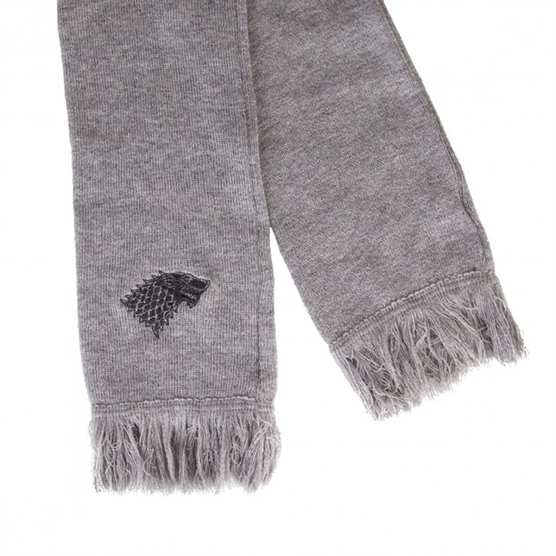 game of thrones winter apparel, house stark direwolf scarf.