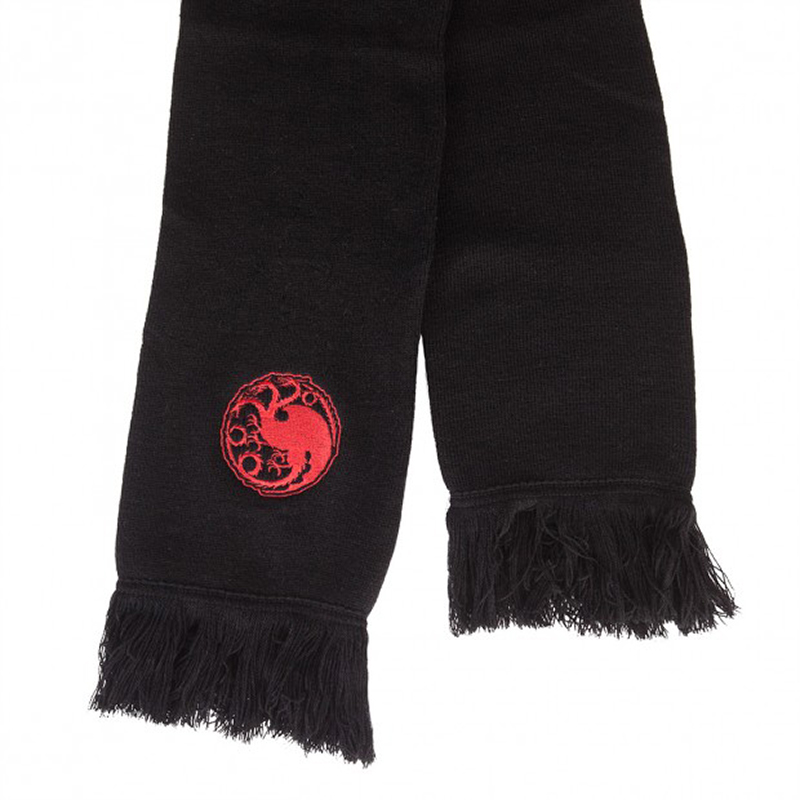 game of thrones winter apparel, house targaryen dragon scarf.