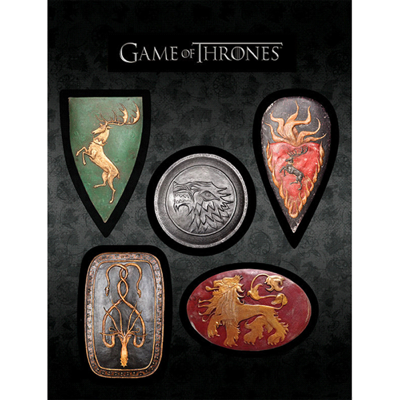 game of thrones house shield magnet set