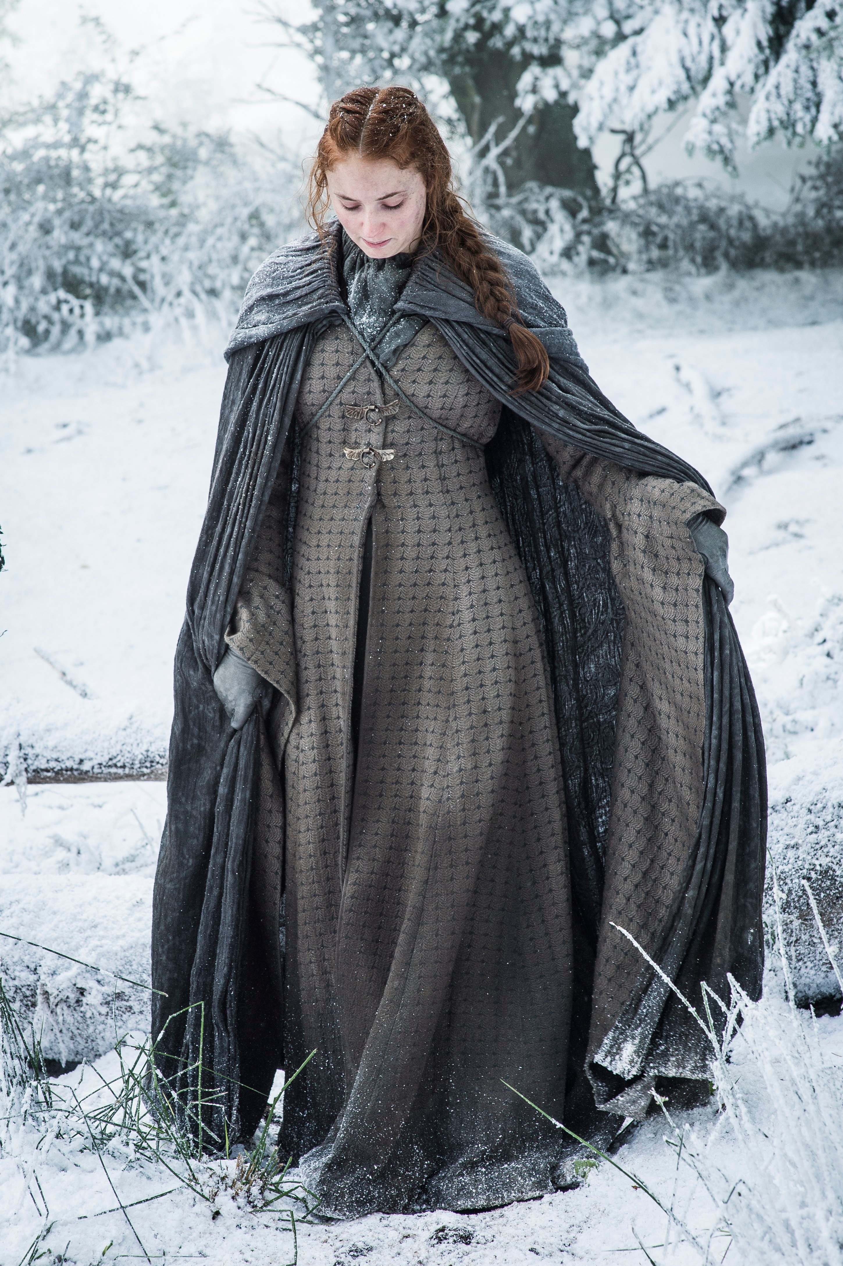game of thrones season 6 photos, sansa stark, winterfell