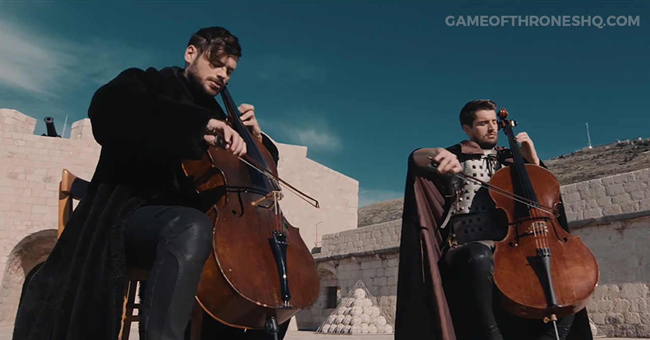 2cellos, game of thrones theme, rains of castamere, king's landing