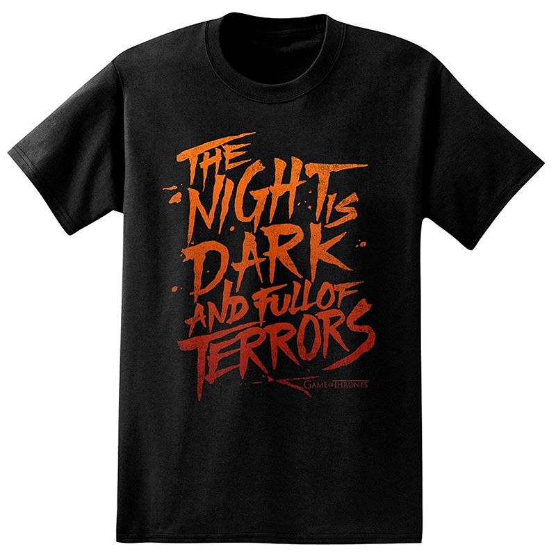 game of thrones valentine's gifts, the night is dark and full of terrors, men's t-shirt